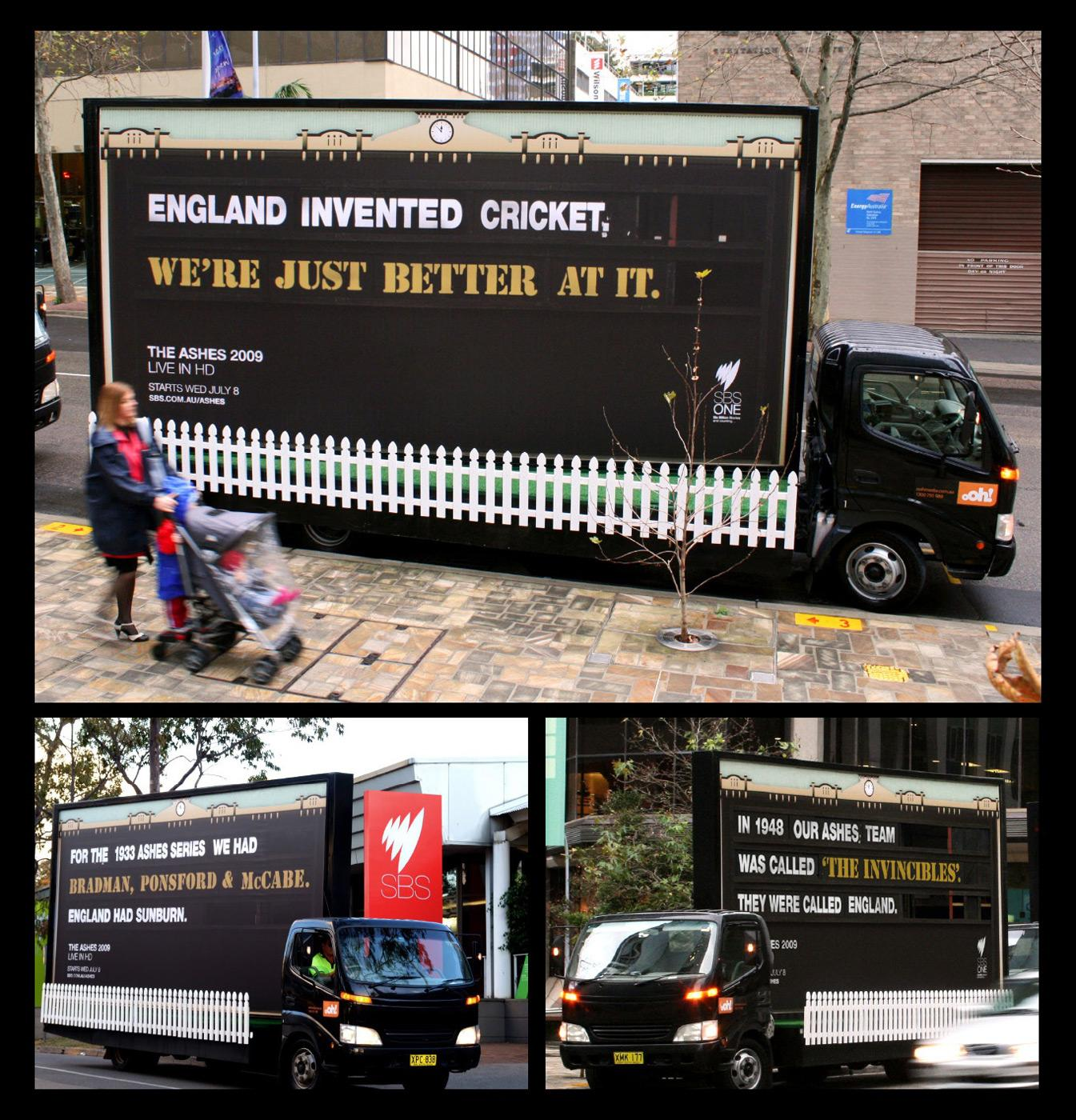 The Ashes Outdoor Ad -  England