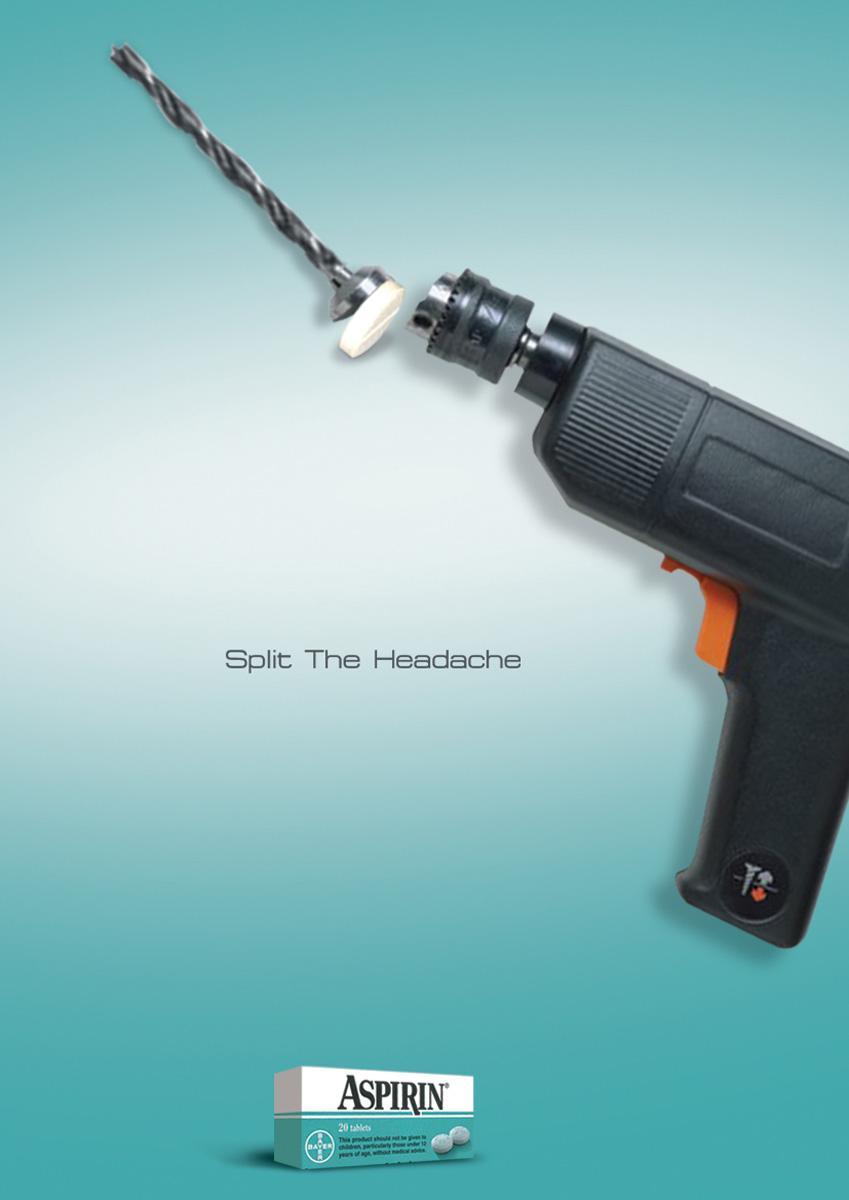 Aspirin Print Ad -  Drill