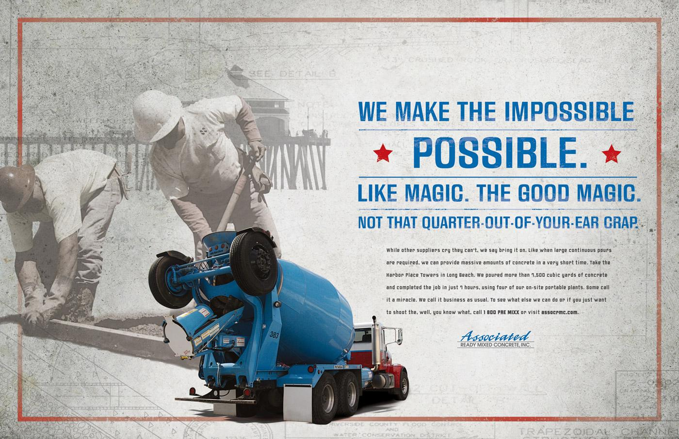 Associated Ready Mixed Concrete Print Ad -  Magic