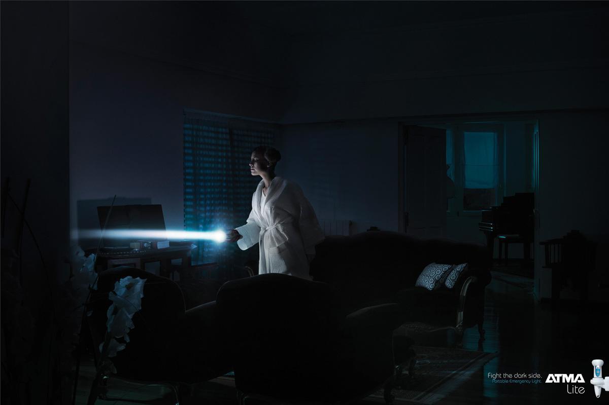 Atma Print Ad -  Fight the dark side, 1