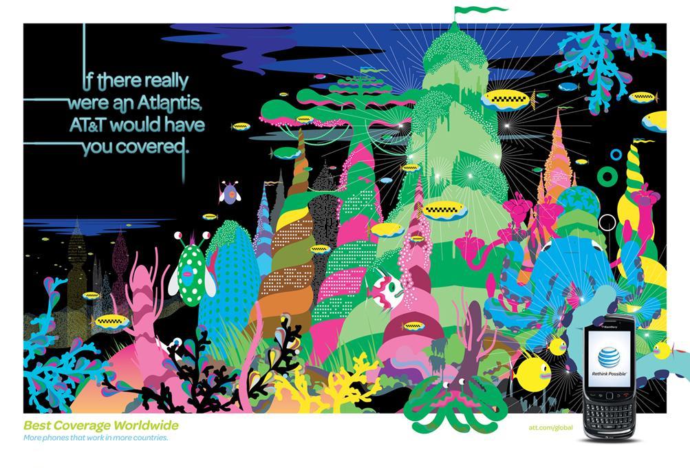 AT&T Print Ad -  Places, Atlantis