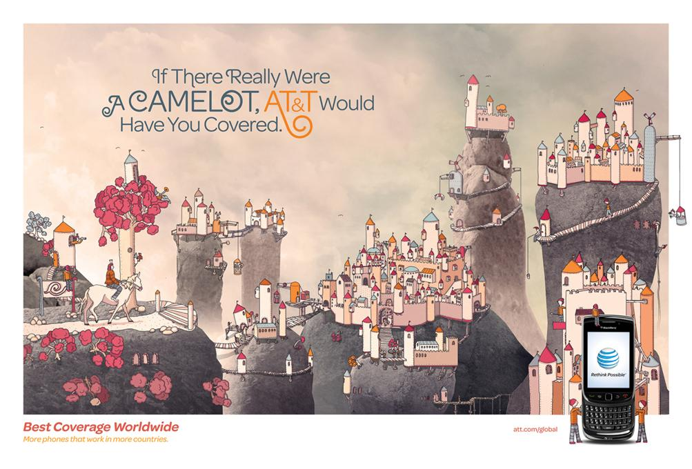AT&T Print Ad -  Places, Camelot