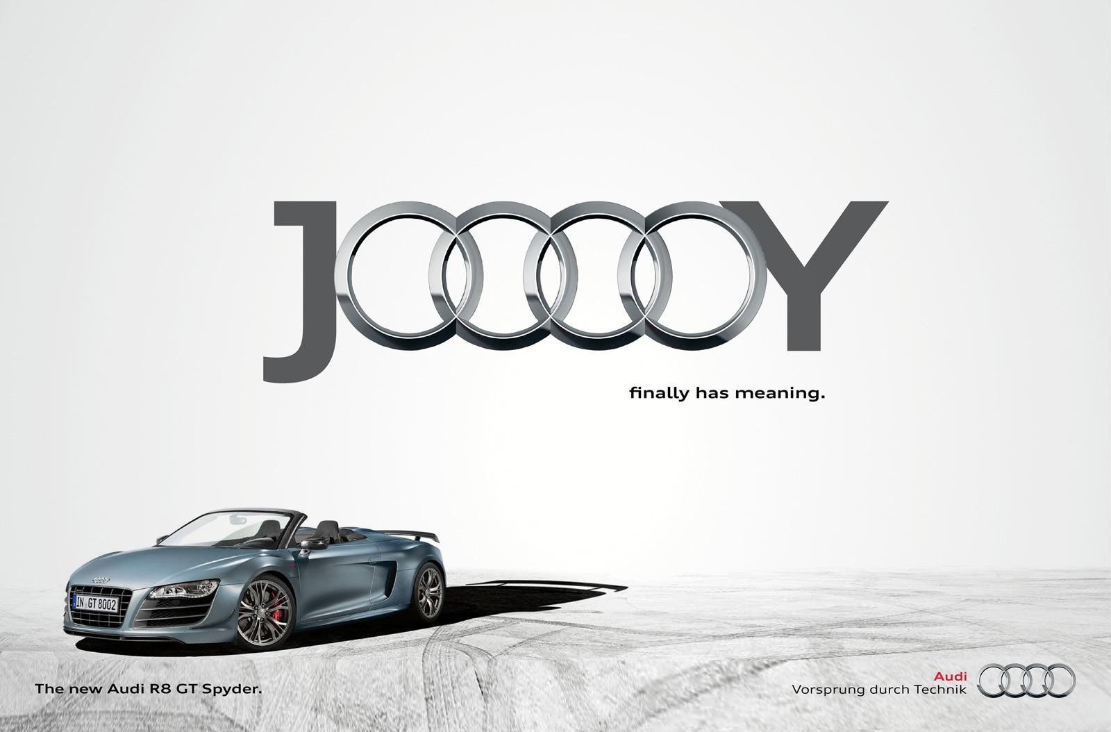 Audi Print Ad -  Jooooy, White