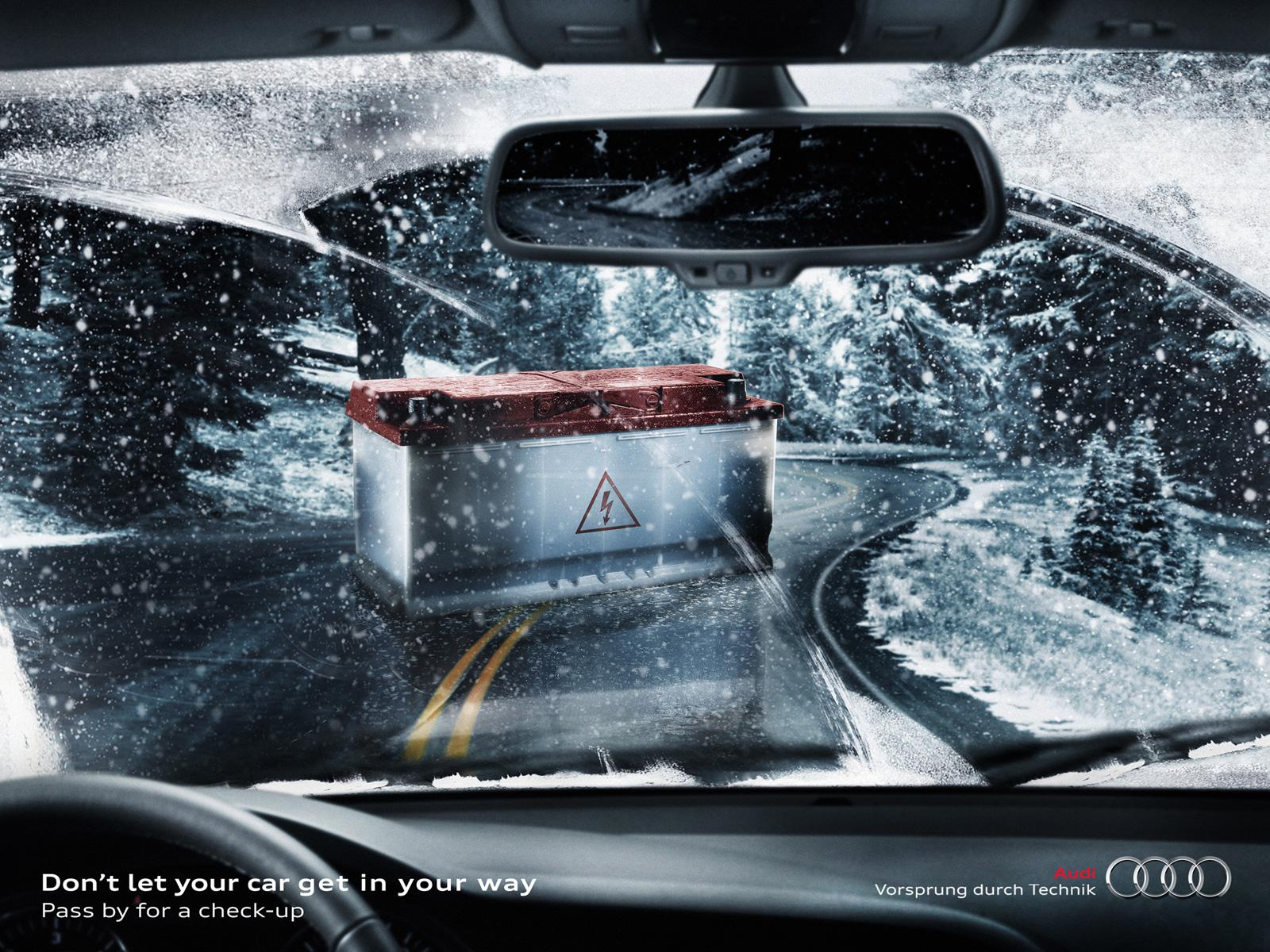 Audi Print Ad -  Battery