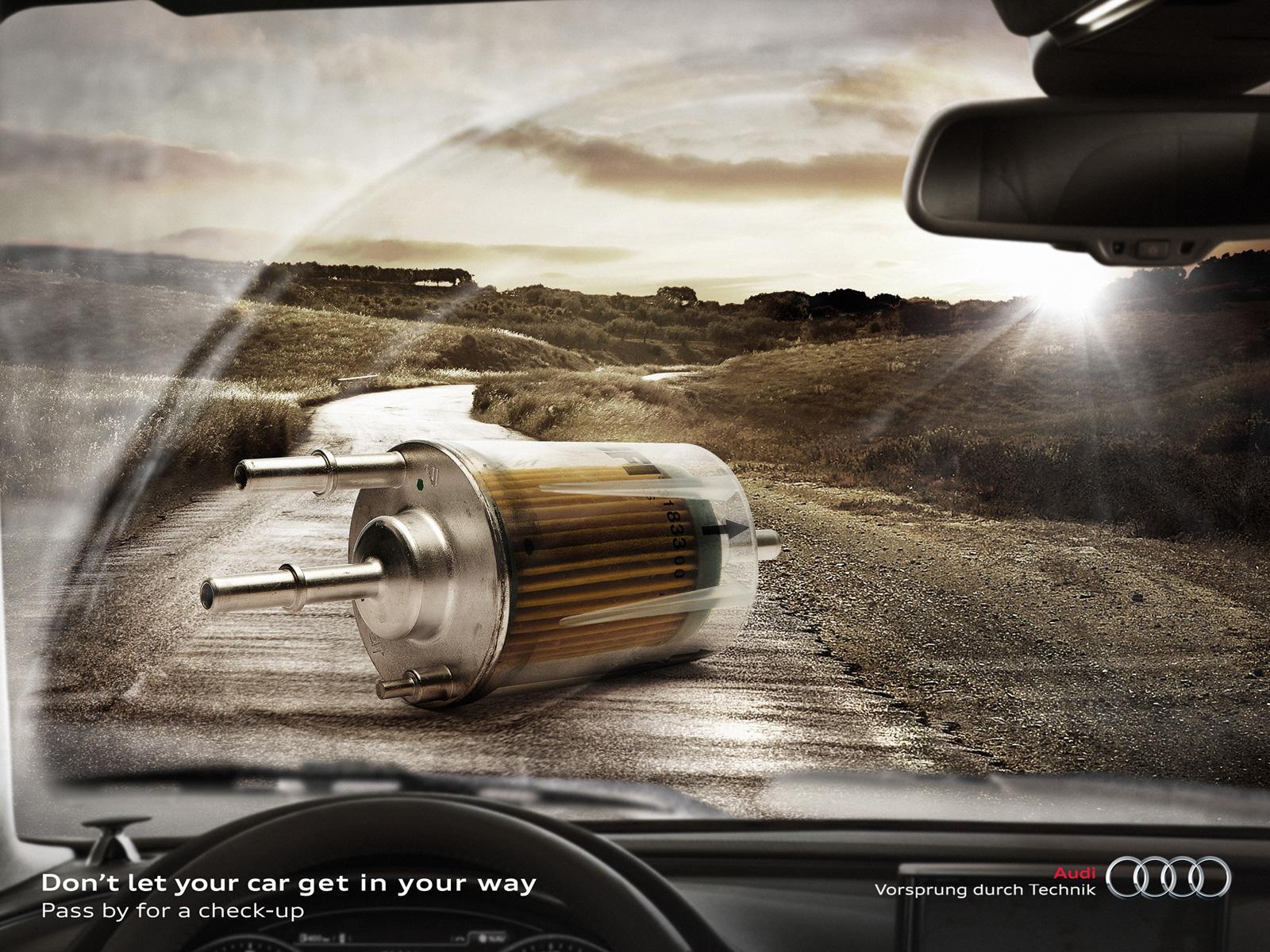 Audi Print Ad -  Fuel filter