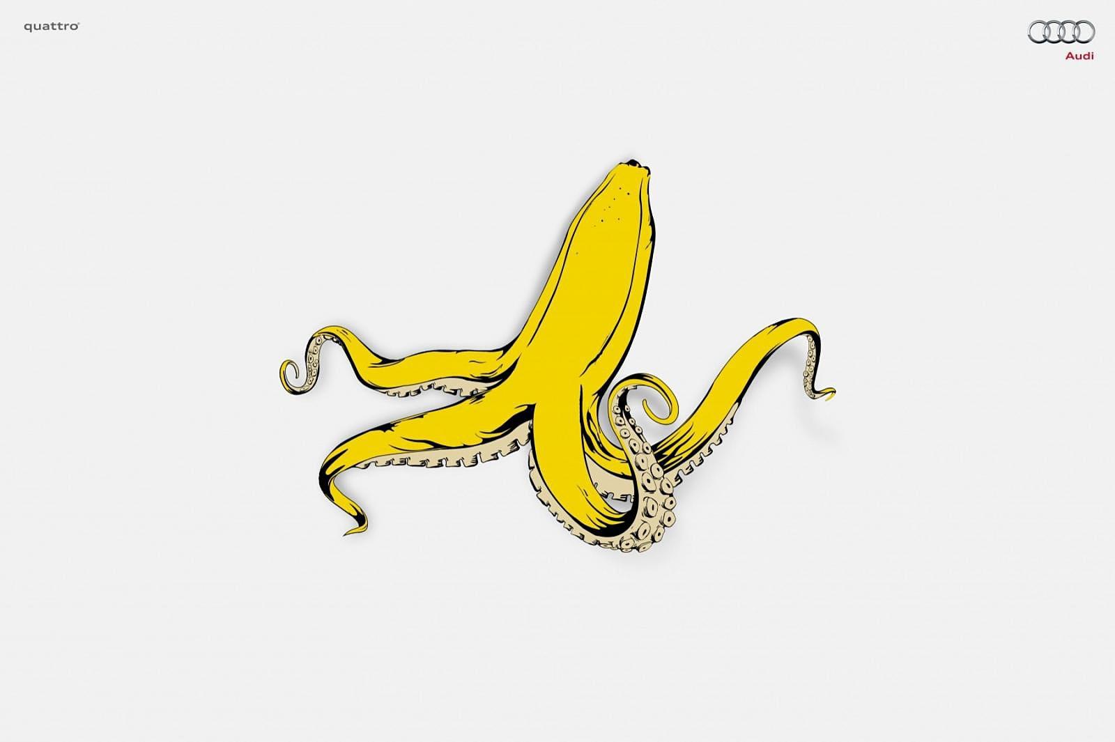 Audi Print Ad -  Banana Squid