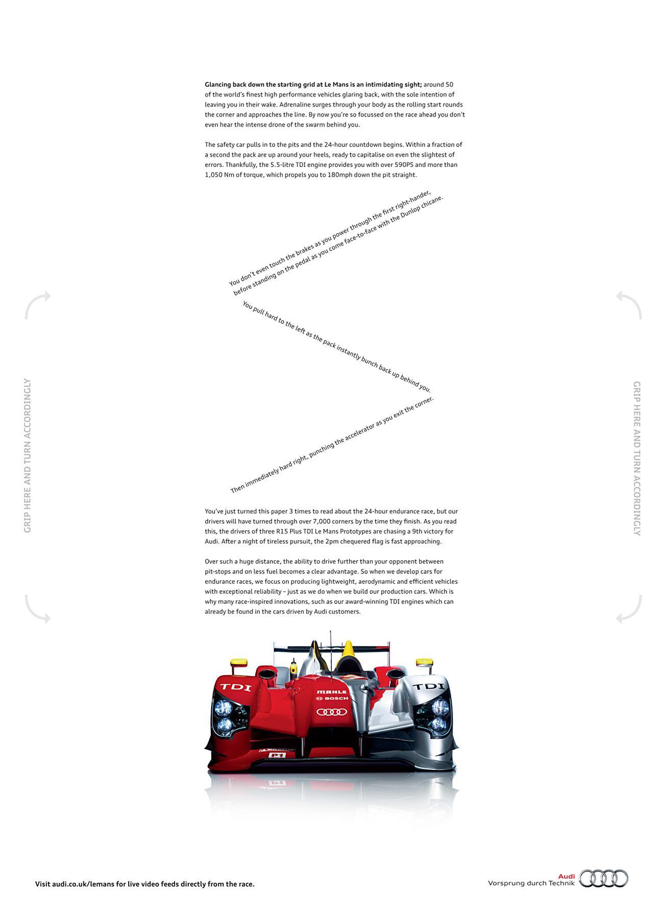 Audi Print Ad -  Le Mans