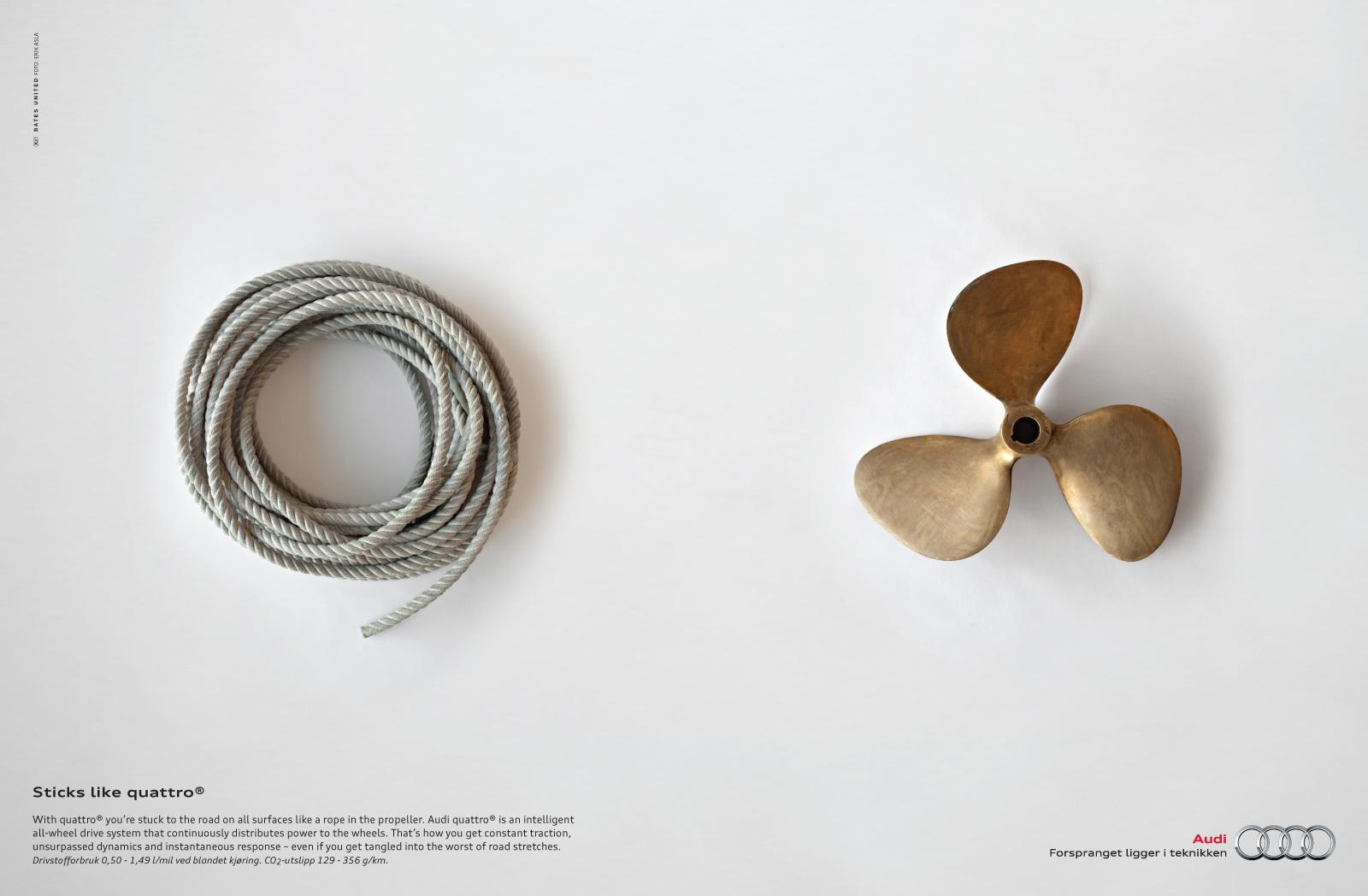 Audi Print Ad -  Rope
