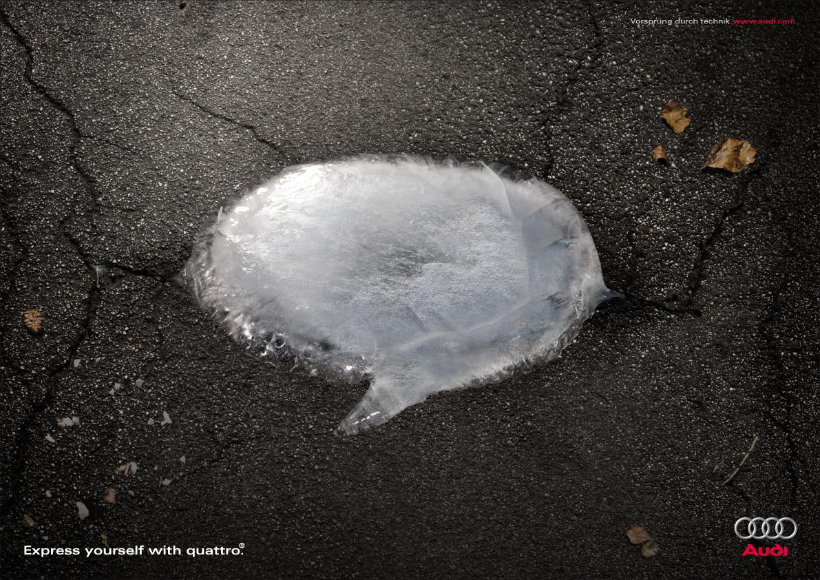 Audi Print Ad -  Ice