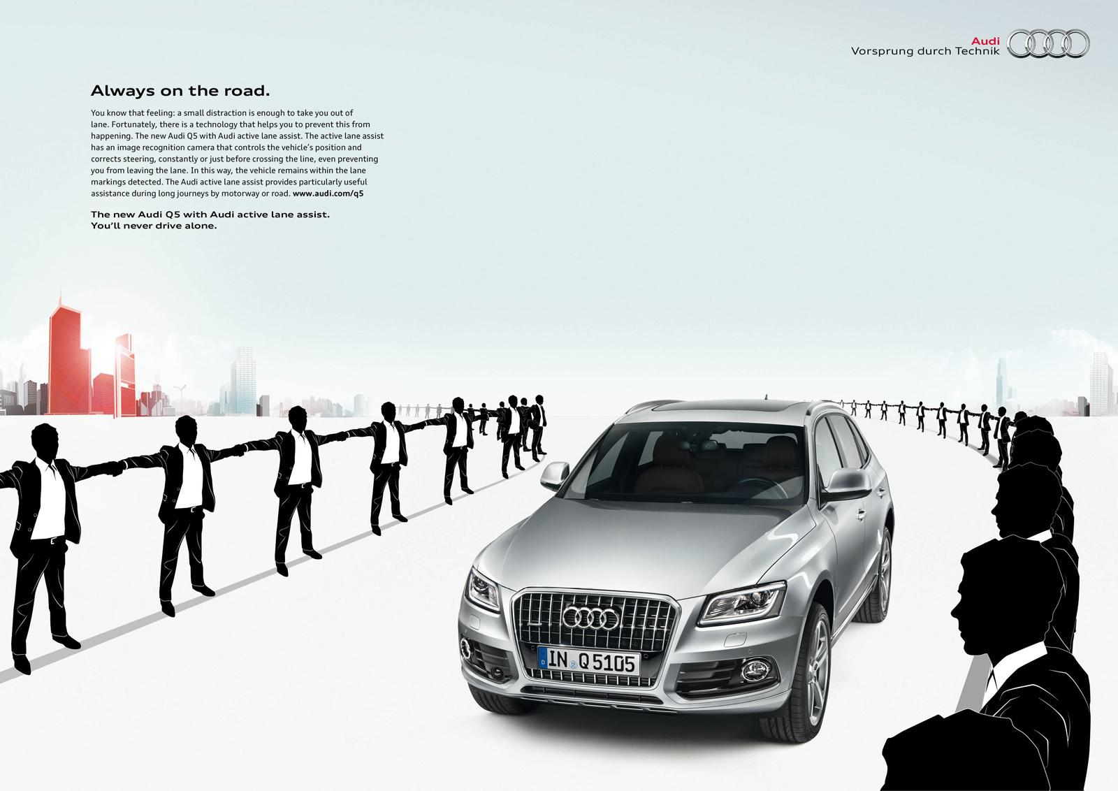 Audi Print Ad -  Lane Assist