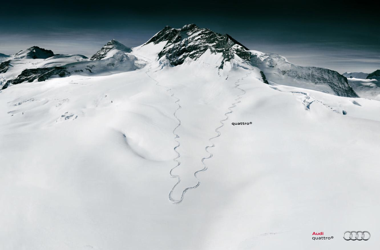 Audi Print Advert By Ddb Skier Ads Of The World