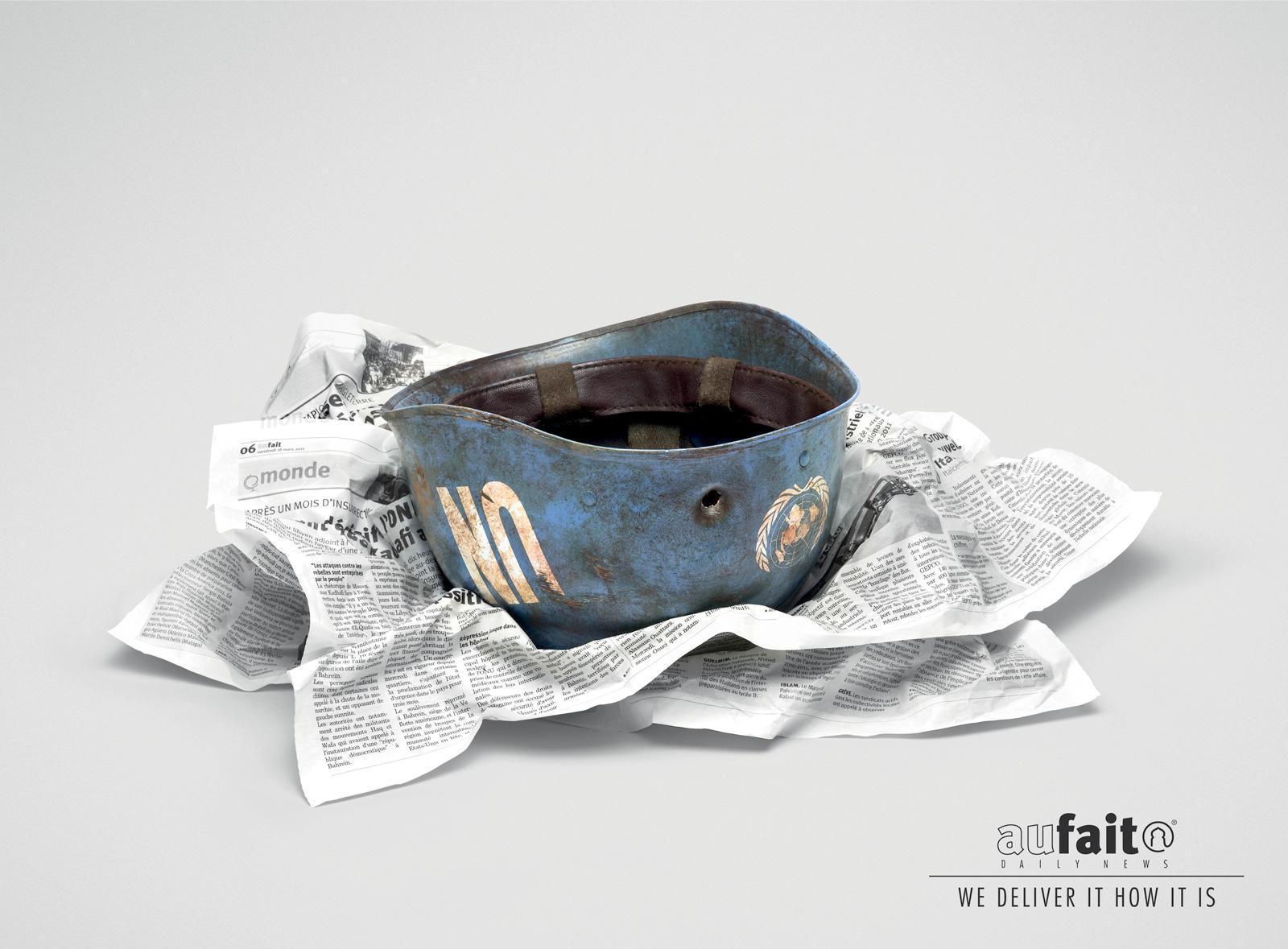 Aufait Print Ad -  Helmet