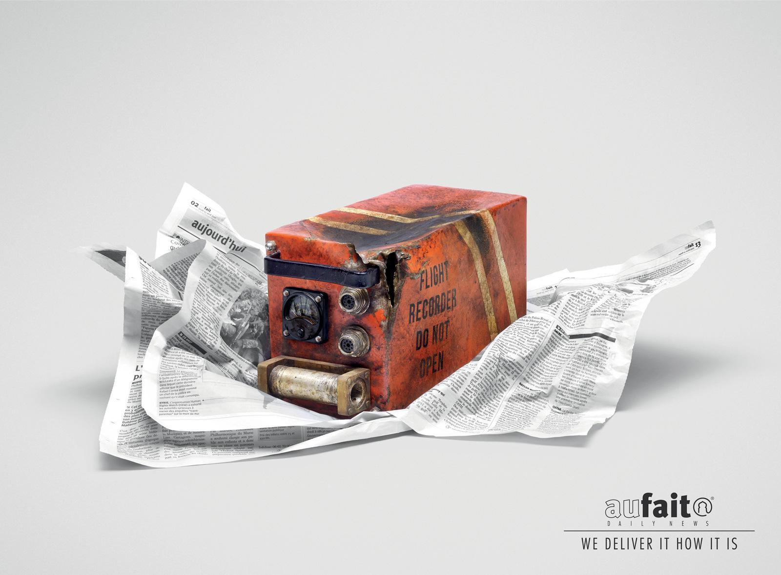 Aufait Print Ad -  Black box