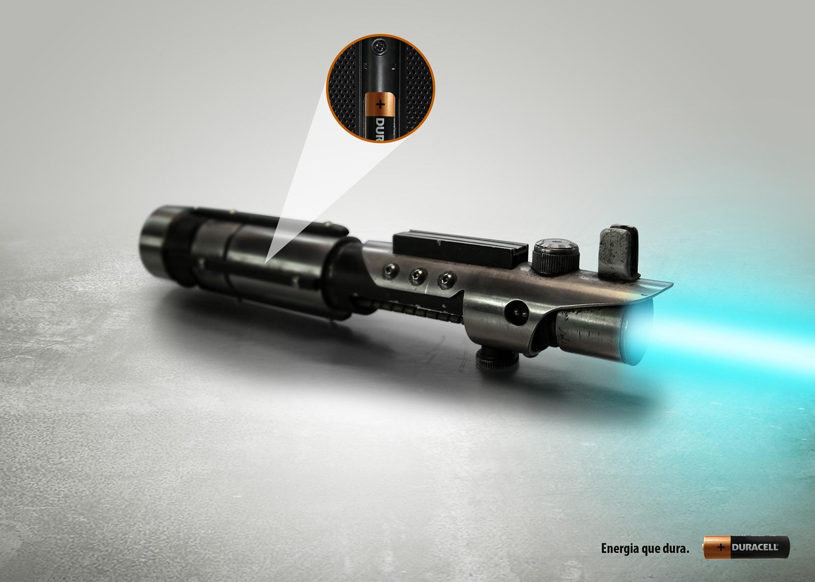 Duracell Print Ad -  Lightsaber