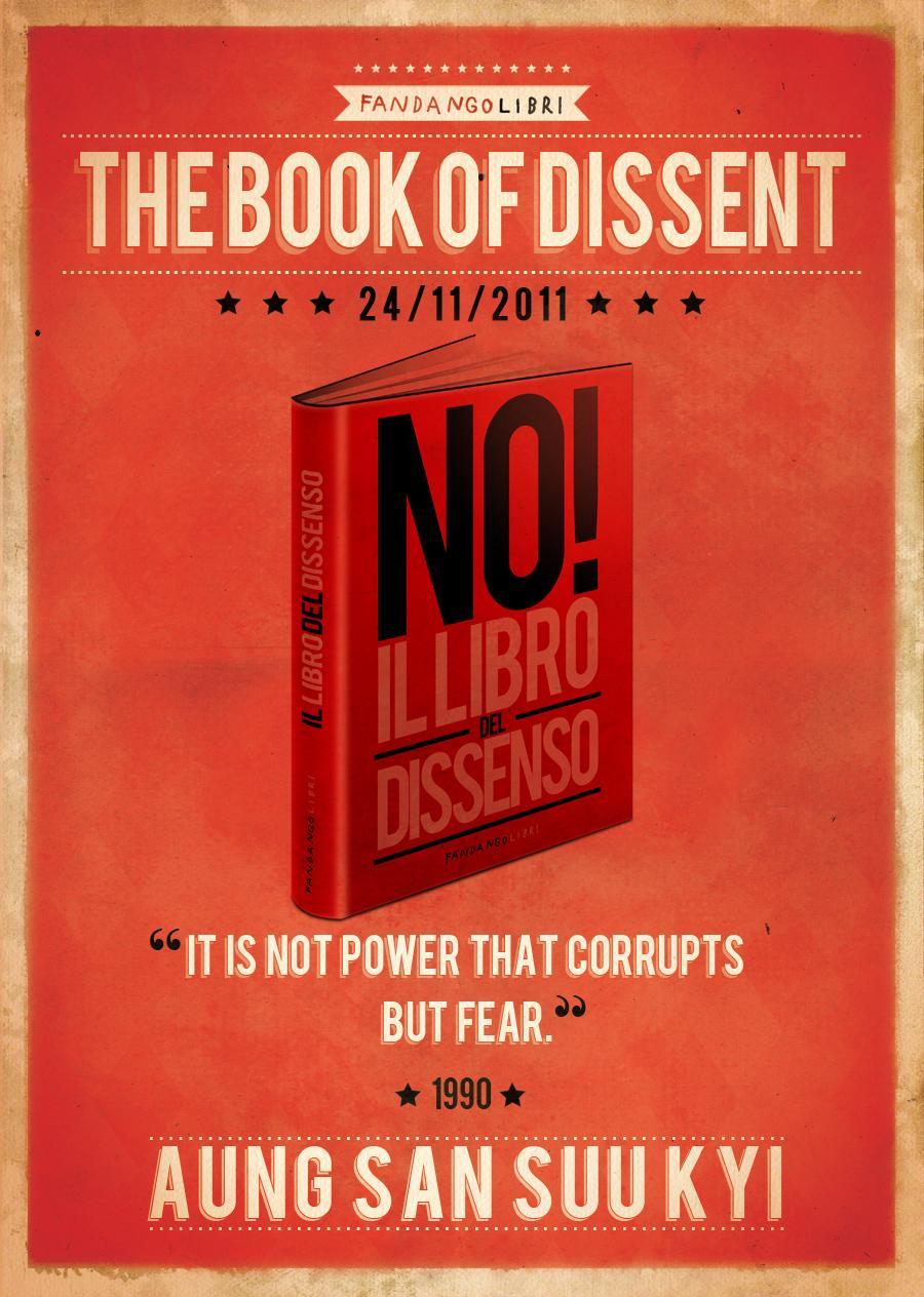 Fandango Libri Print Ad -  The book of dissent, Aung San Suu Kyi