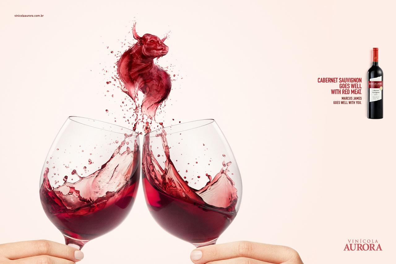 Aurora Wines Print Ad -  Harmonizing, Cabernet