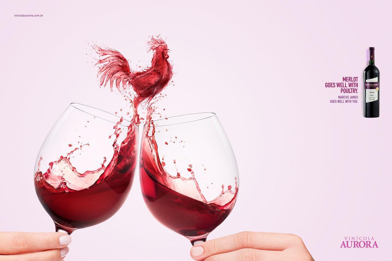 Aurora Wines Print Ad -  Harmonizing, Merlot