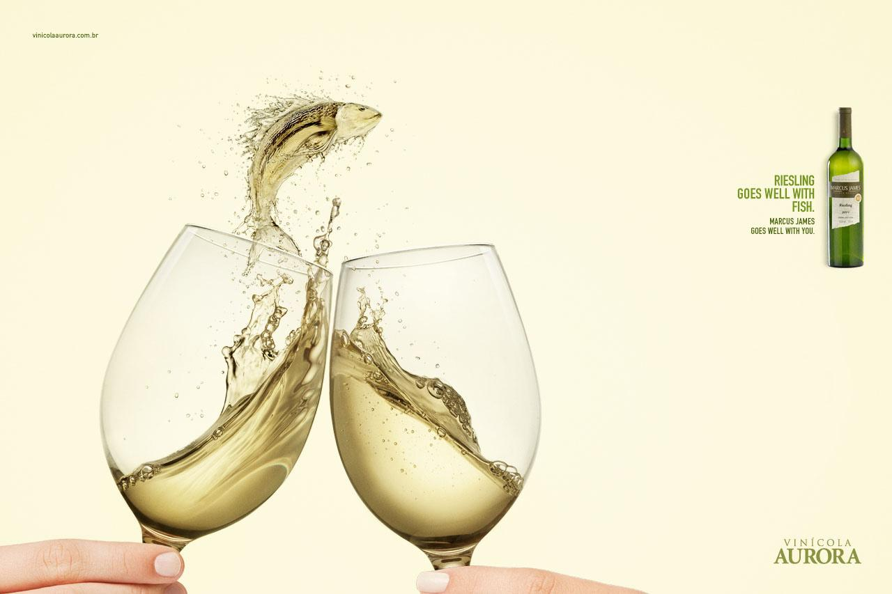 Aurora Wines Print Ad -  Harmonizing, Riesling