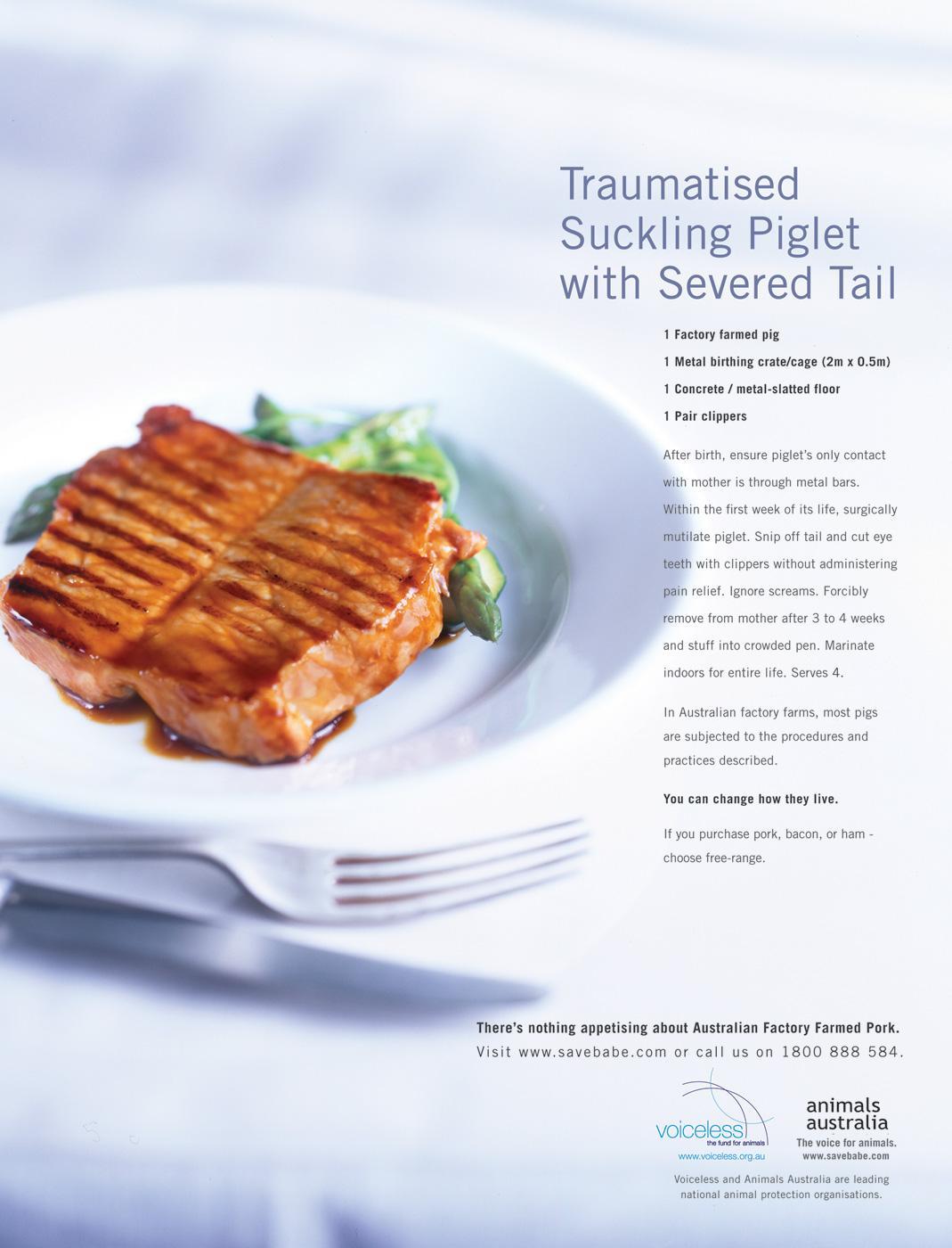Animals Australia Print Ad -  Recipe, 4