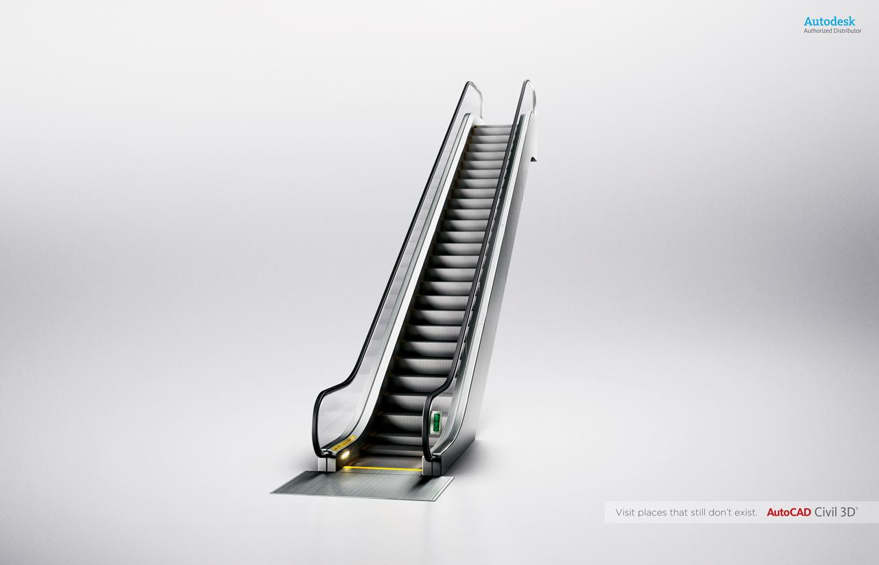 Autocad Print Ad -  Stair