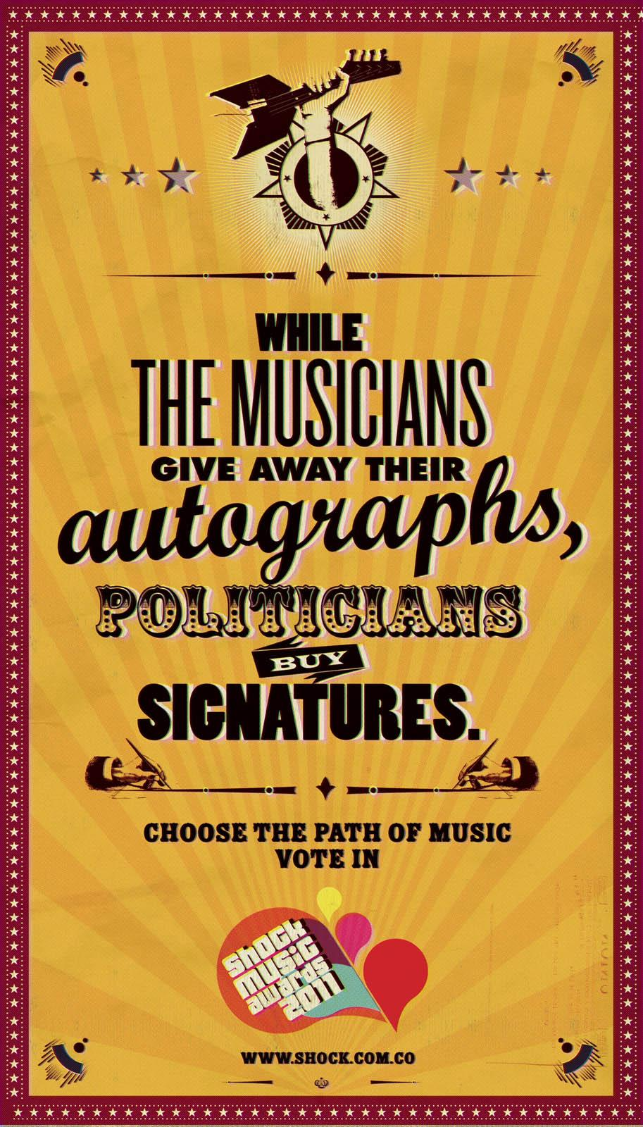 Shock Music Awards Print Ad -  Autographs