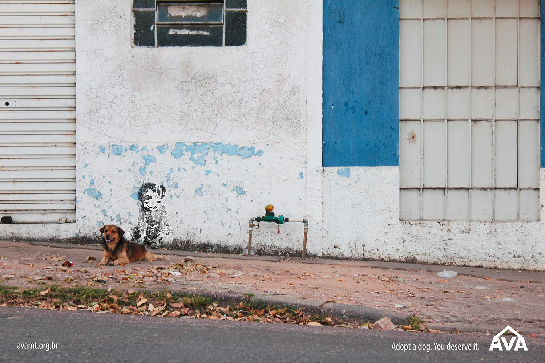 AVA-MT Print Ad -  Adopt a dog, 3