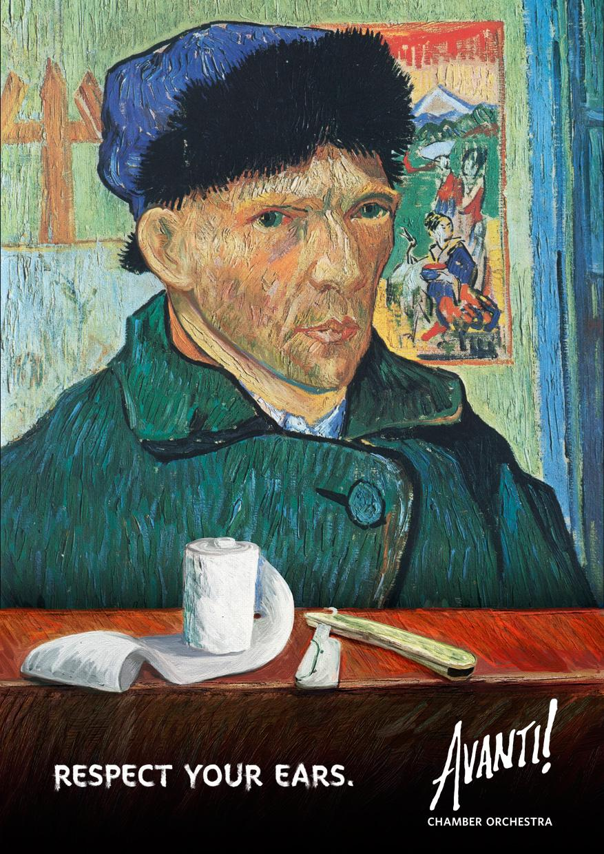 Avanti! Print Ad -  Respect your ears, Vincent