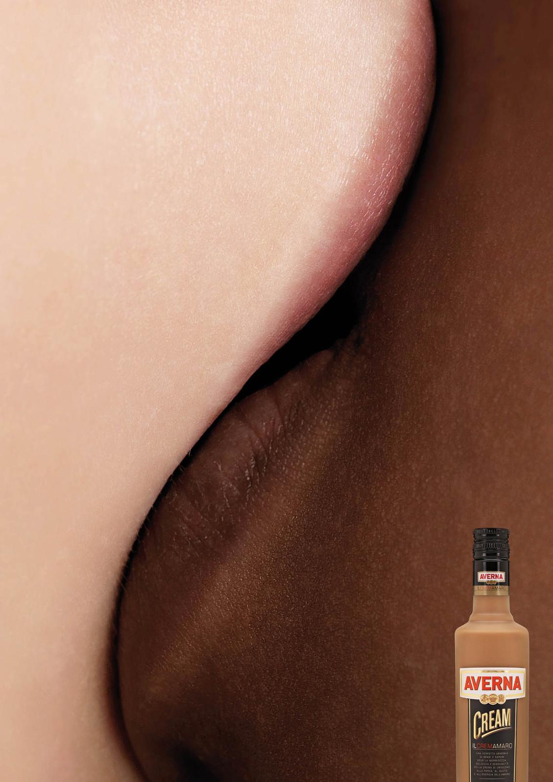 Averna Cream Print Ad -  Kiss