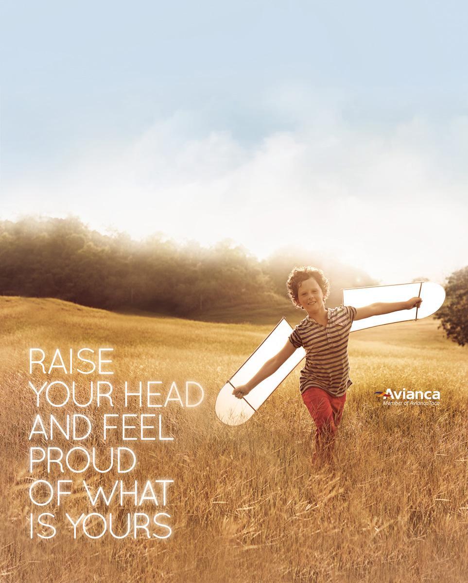 Avianca Print Ad -  Raise your head, 3