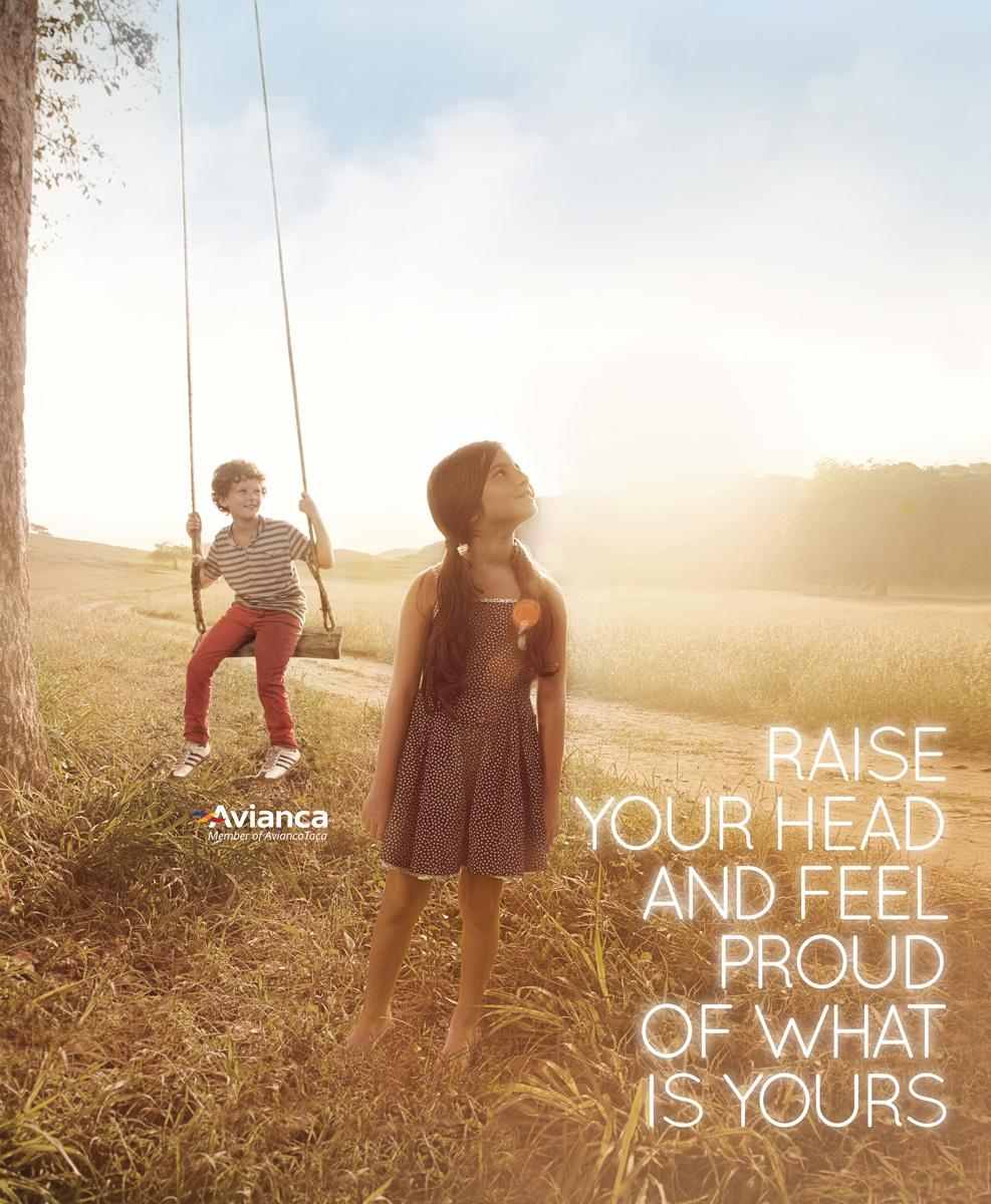 Avianca Print Ad -  Raise your head, 5