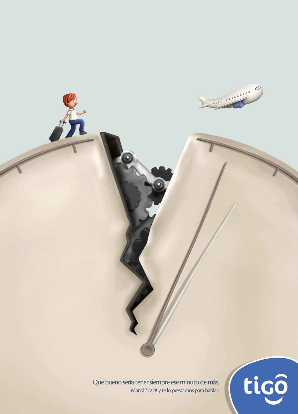 Tigo Print Ad -  Plane