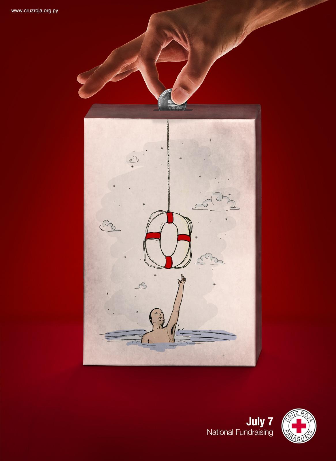 Red Cross Print Ad -  Donation, Sea