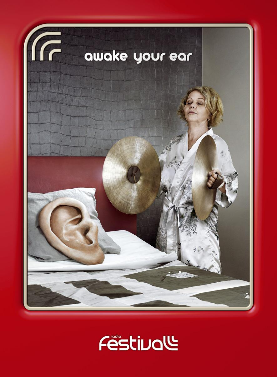 Radio Festival Print Ad -  Awake your ear