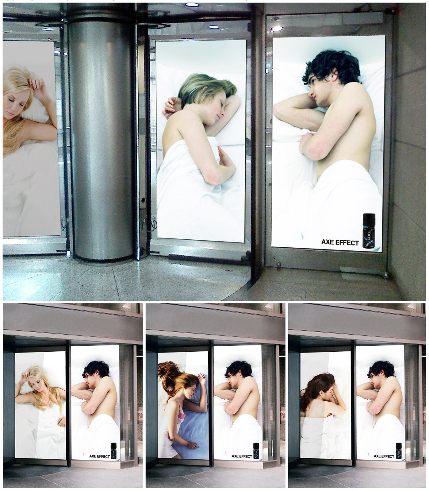 Axe Outdoor Ad -  Revolving Doors