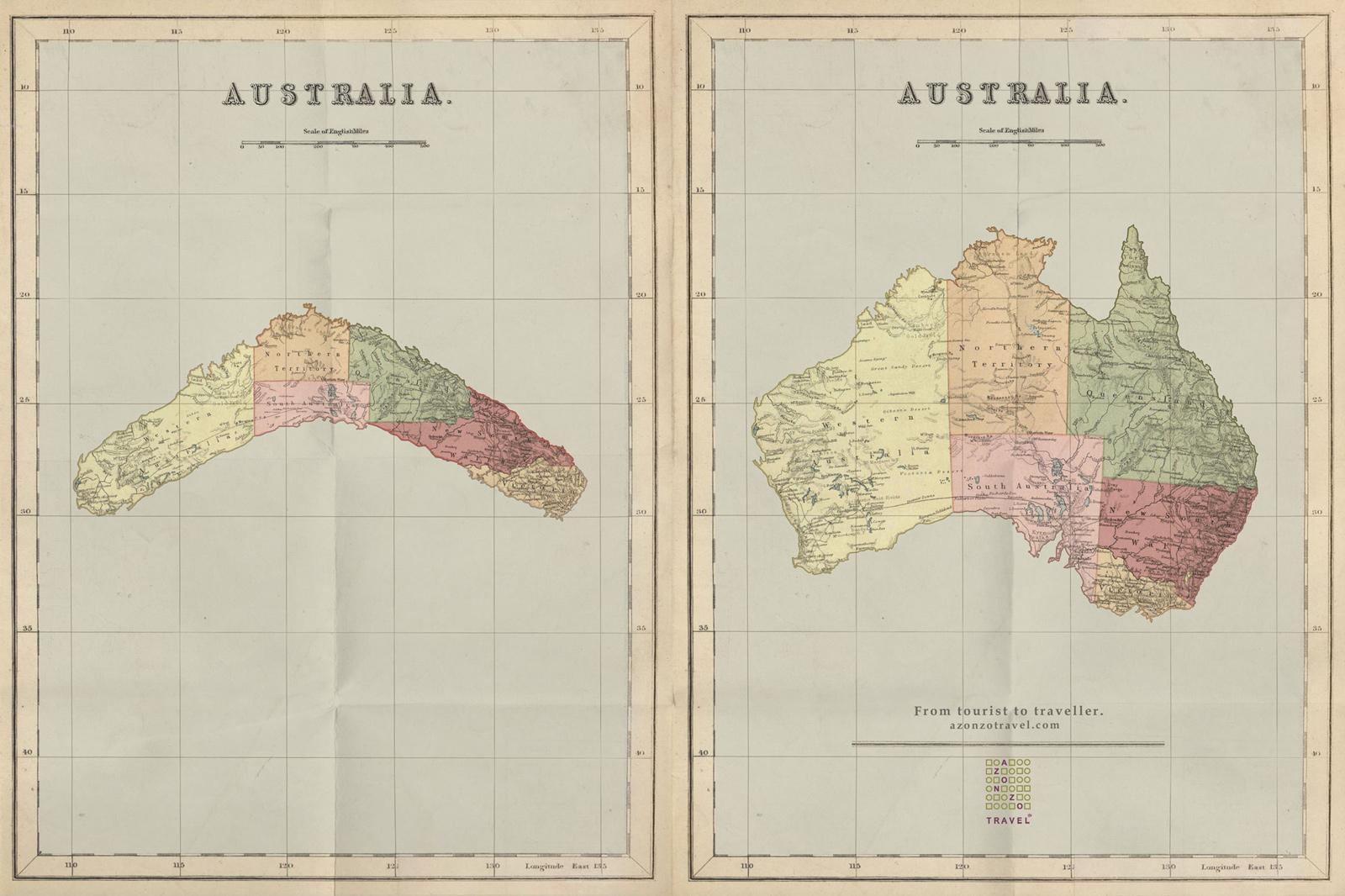 Azonzotravel Print Ad -  Australia Map