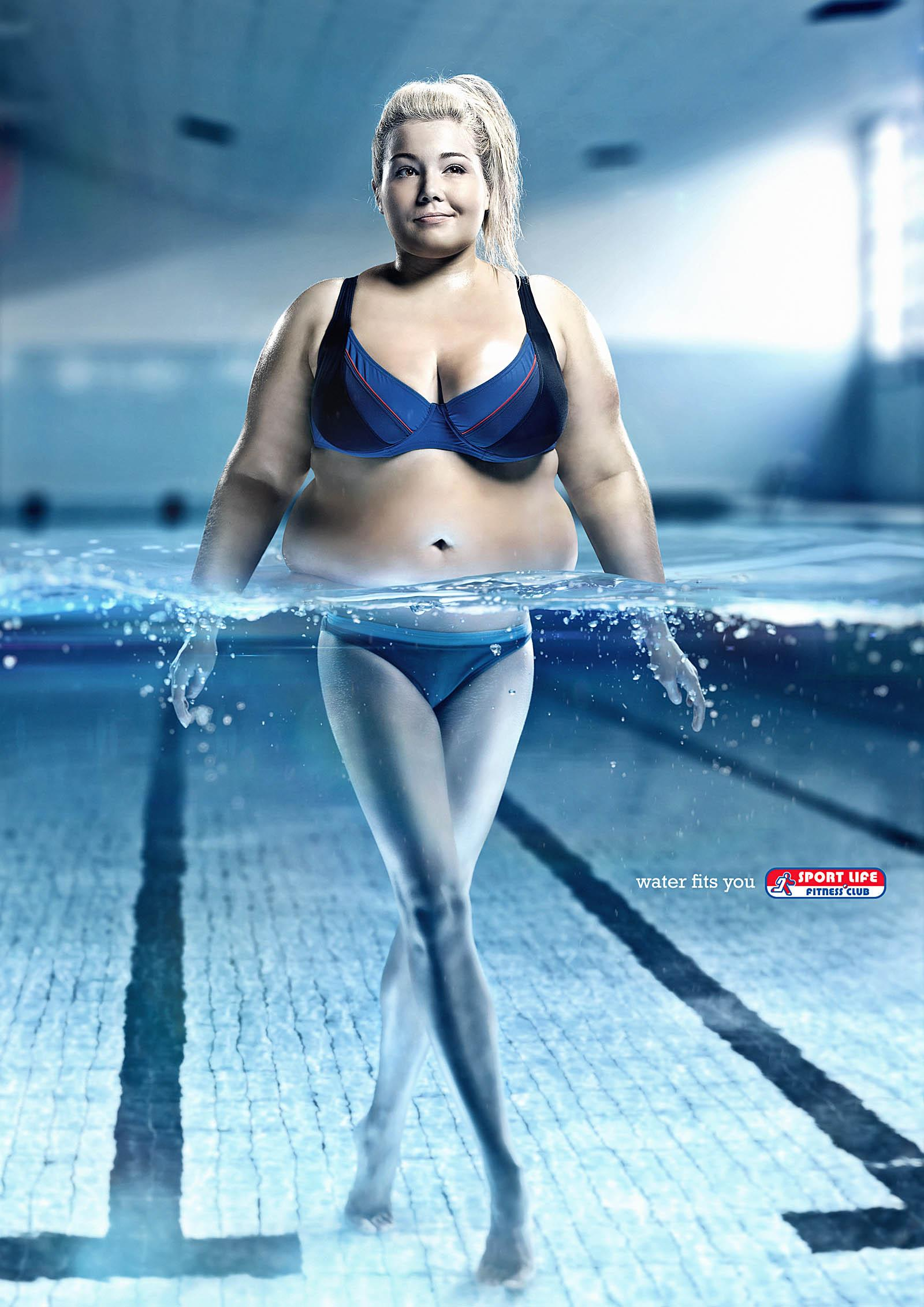 Sportlife Print Ad -  Water fits you, Lady