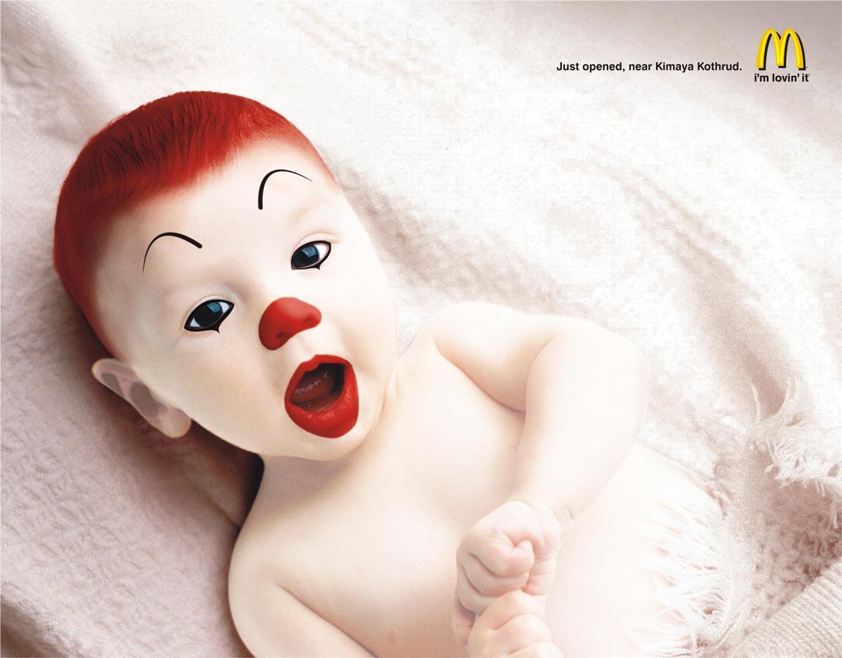McDonald's Print Ad -  Baby Ronald