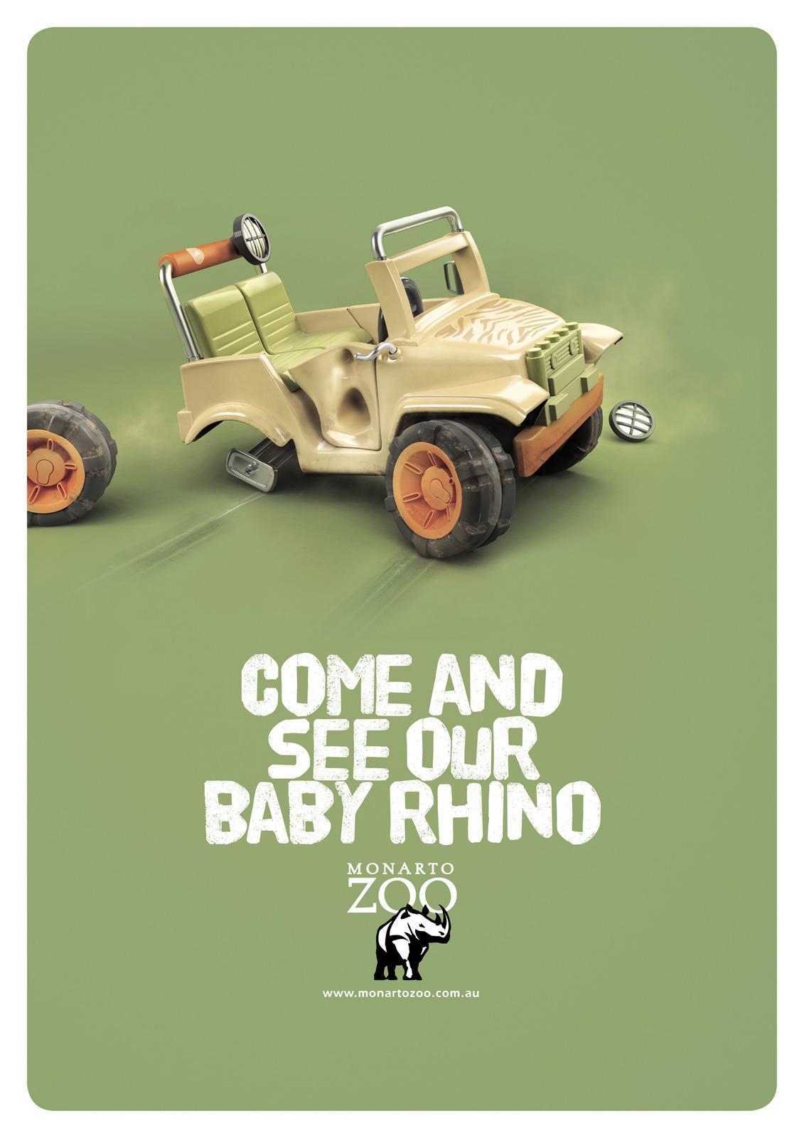 Monarto Zoo Print Ad -  Baby Rhino