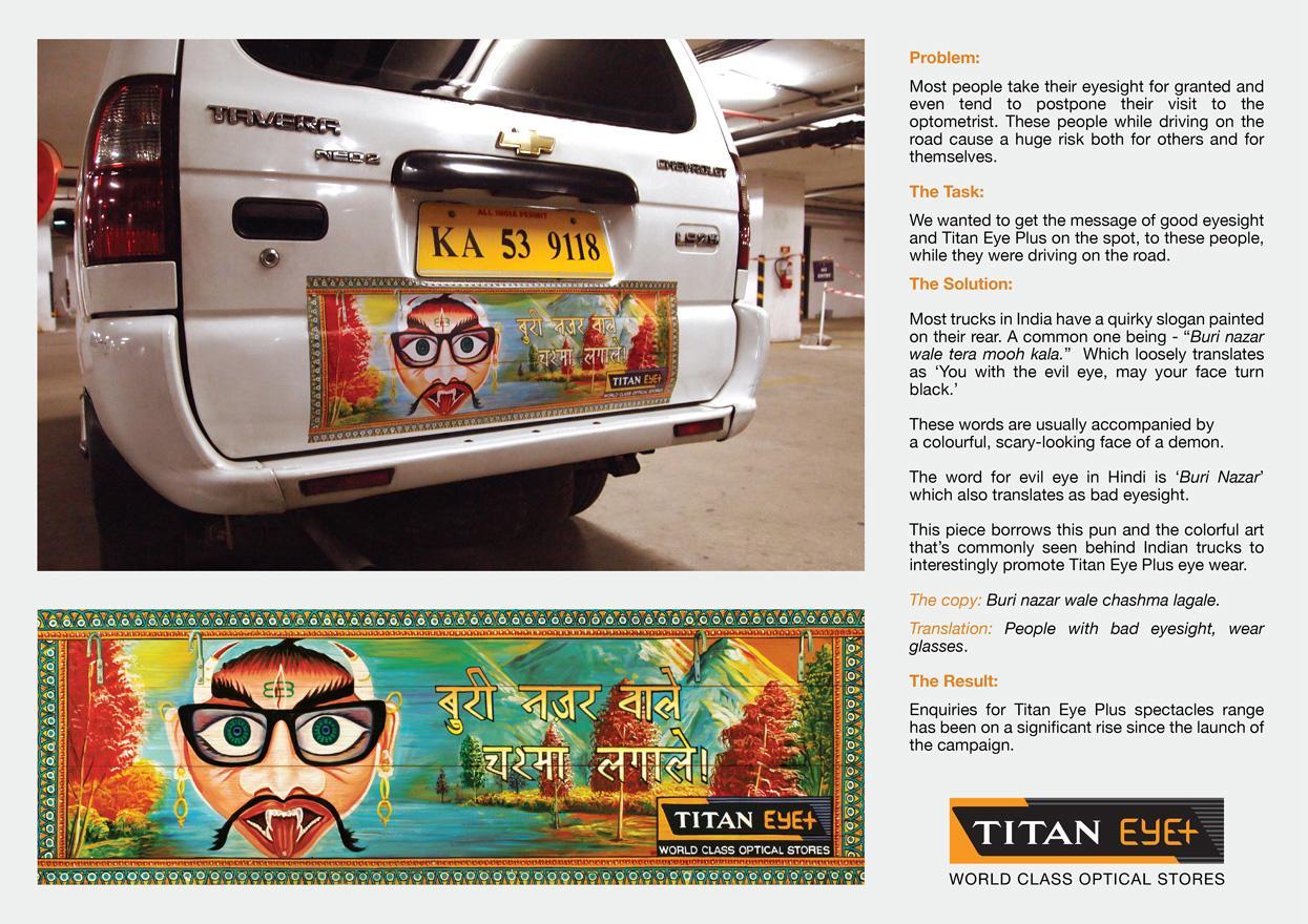 Titan Eye Plus Outdoor Ad -  Cab