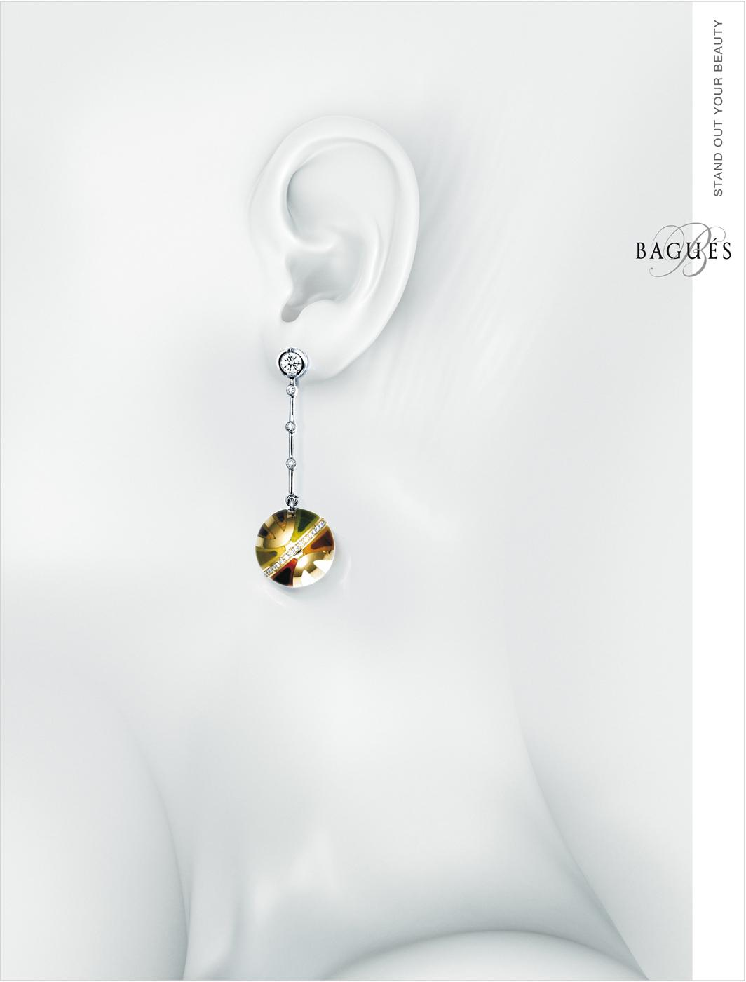 Bagues Jewelry Print Ad -  Earring