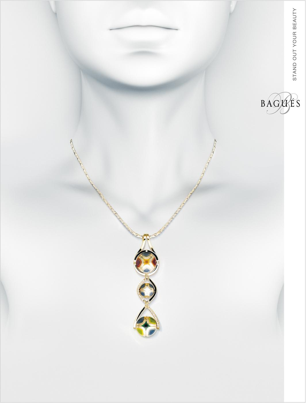 Bagues Jewelry Print Ad -  Necklace