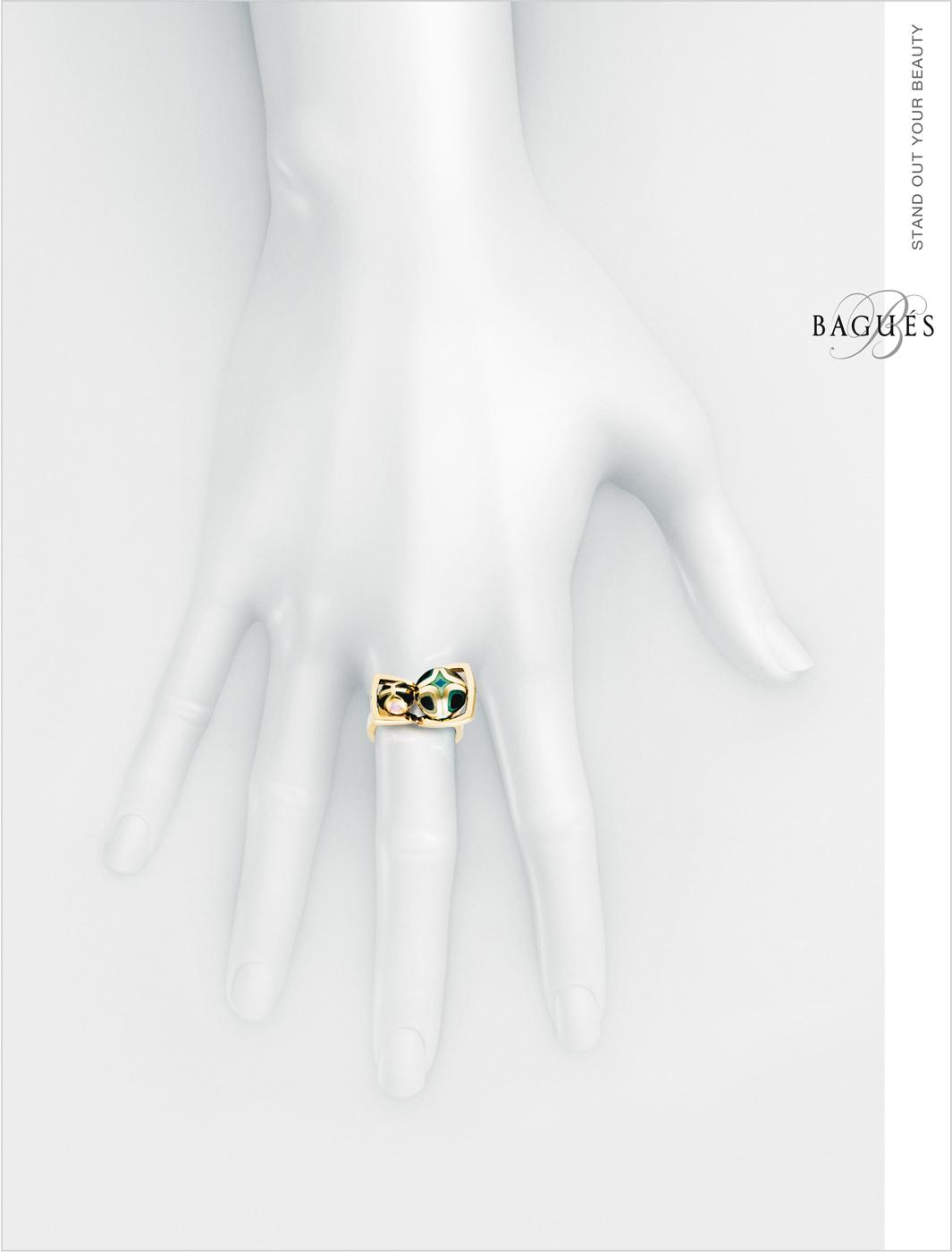 Bagues Jewelry Print Ad -  Ring