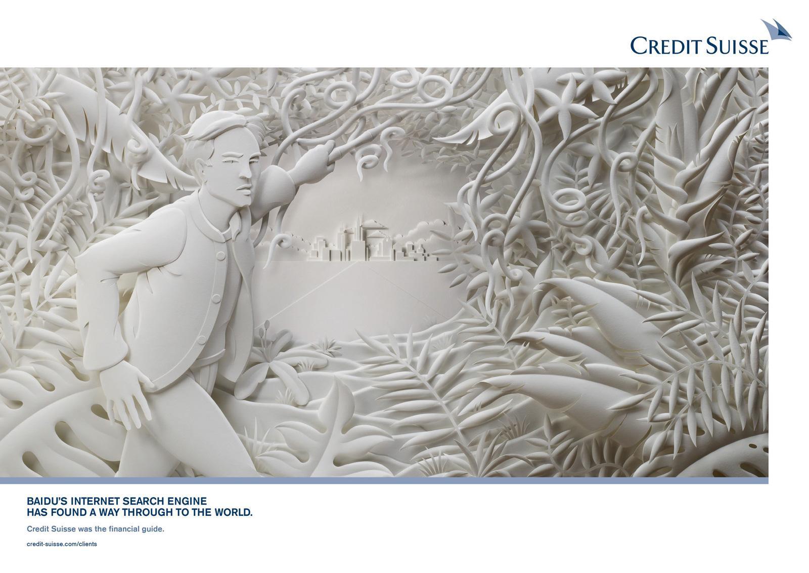 Credit Suisse Print Ad -  Baidu