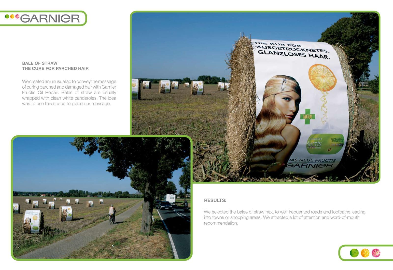 Garnier Outdoor Ad -  Bale Of Straw