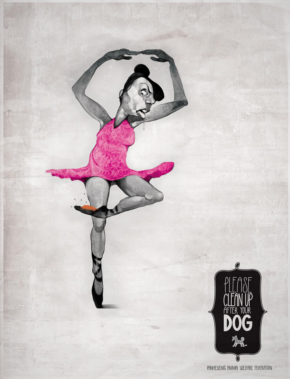 Panhellenic Animal Welfare Federation Print Ad -  Ballerina
