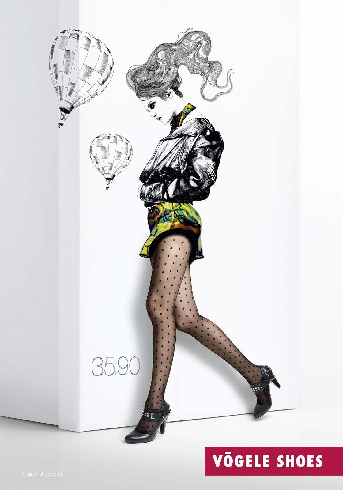 Vögele Print Ad -  Box Models, Balloon