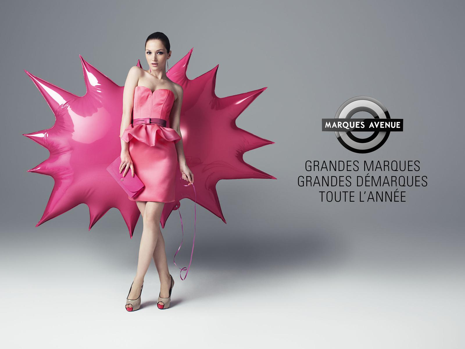 Marques Avenue Print Ad -  Special offers stickers, Balloon