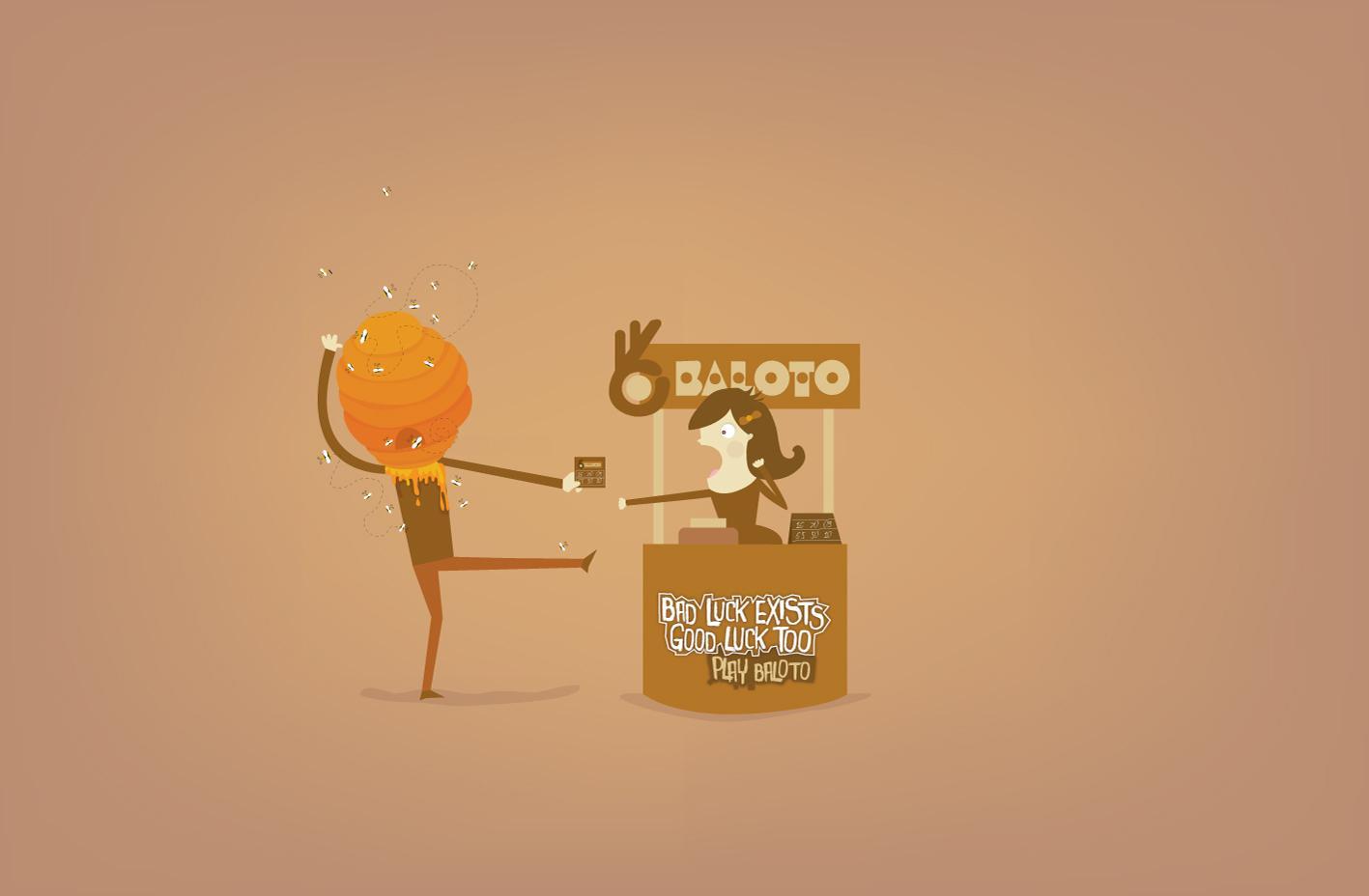 Baloto Print Ad -  Honeycomb