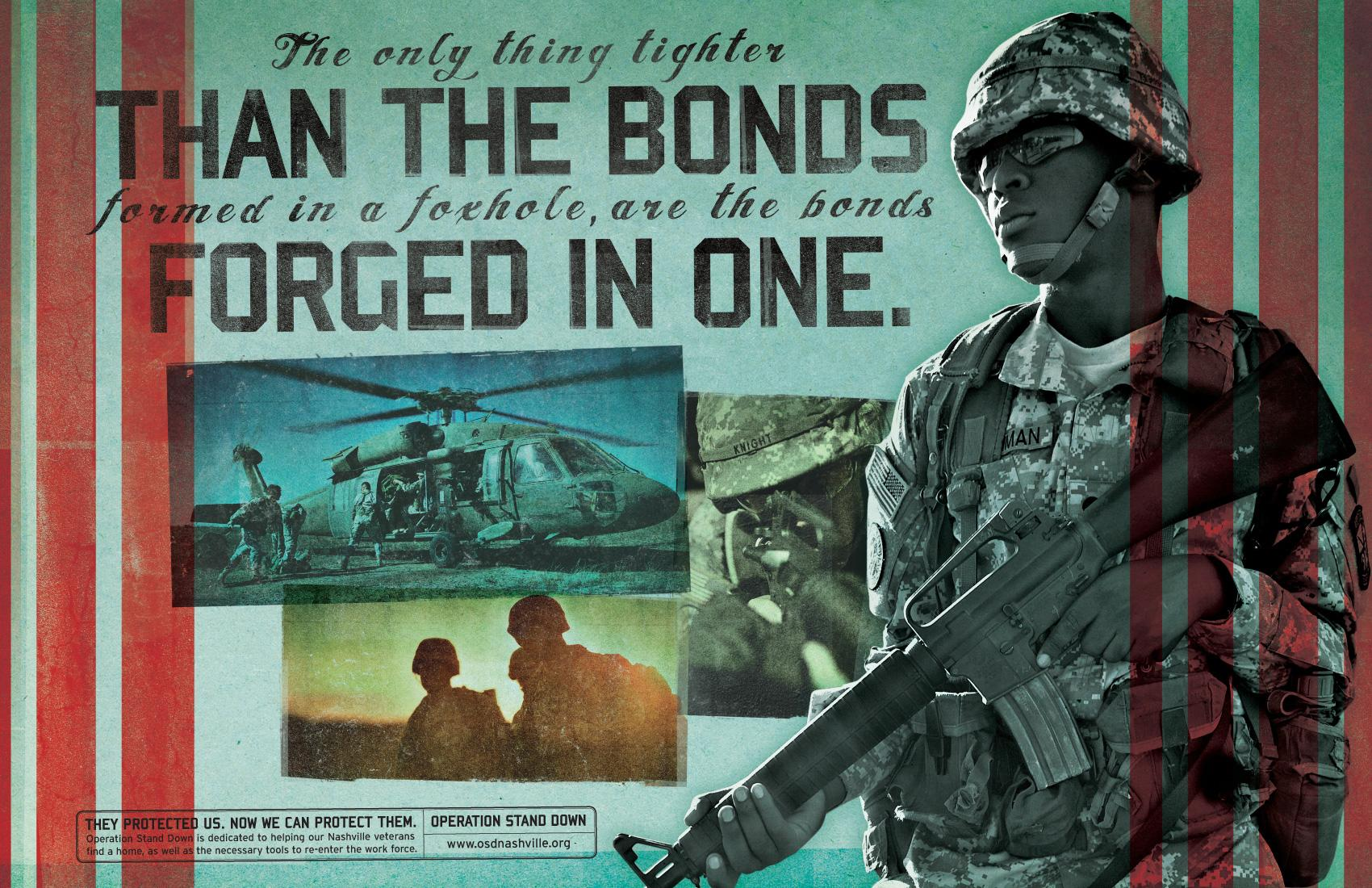 Operation Stand Down Print Ad -  Bonds