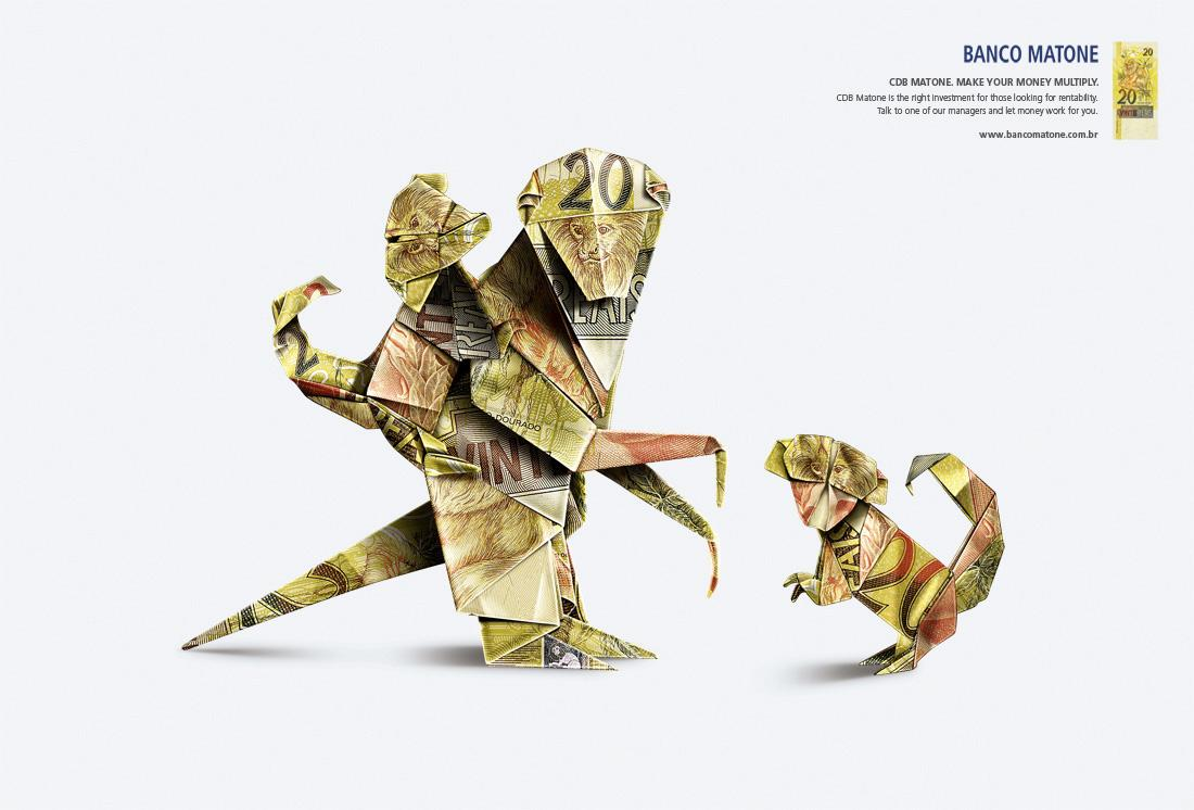 Matone Bank Print Ad -  Monkeys